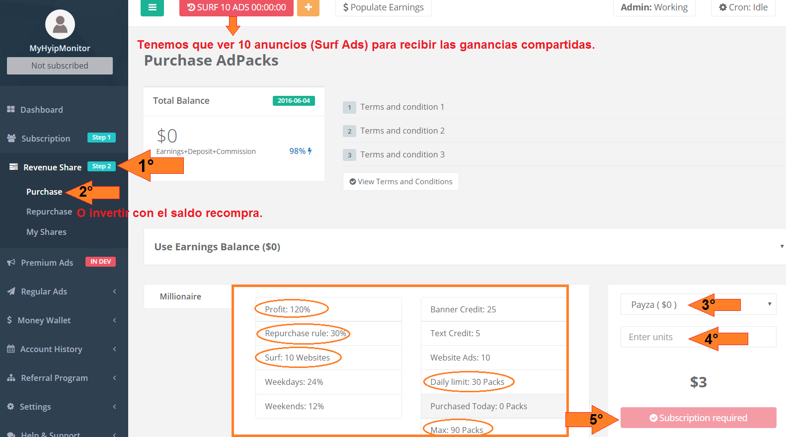 Cómo Comprar AdPack en TopShareGlobal (TSG)