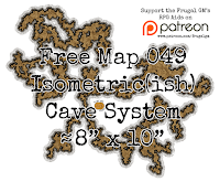 Free Map049: Isometric(ish) Cave System Map
