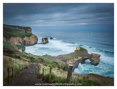 Dunedin, Tunnel Beach, Sunset, Cloudy