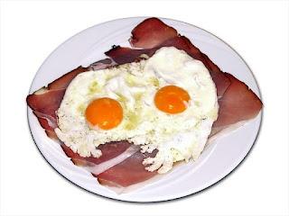 Fried Eggs on Bacon: Atkins 72 Breakfast