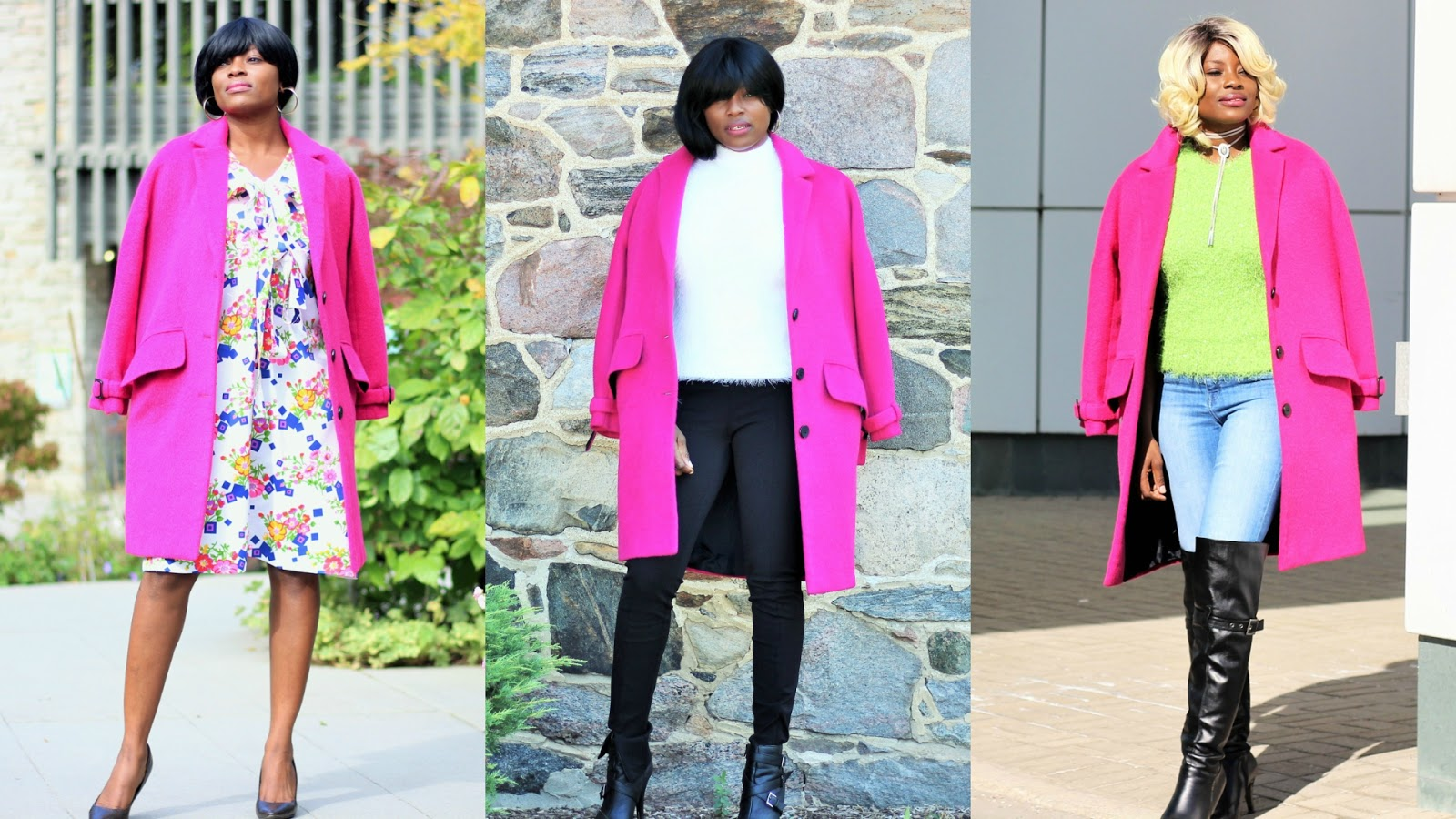 How I Styled A Pink Coat With Everyday Outfits | 3 Ways