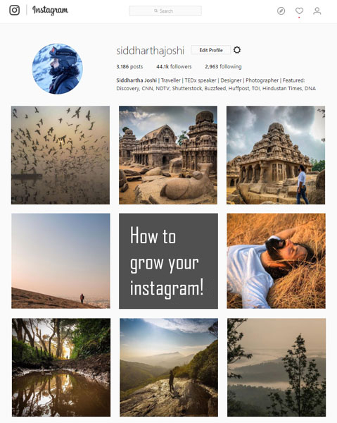 how grow instagram india 2018