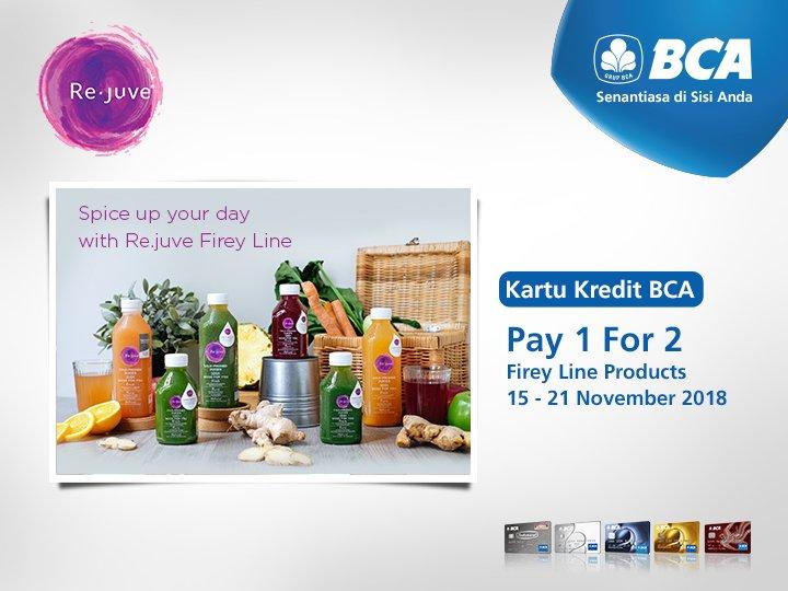 Bank BCA - Promo Pay 1 For 2 di Re-Juve Pakai Kartu Kredit BCA (s.d 21 Nov 2018)