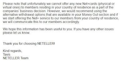 سبب ايقاف بطاقة Neteller خدماتها في المغرب