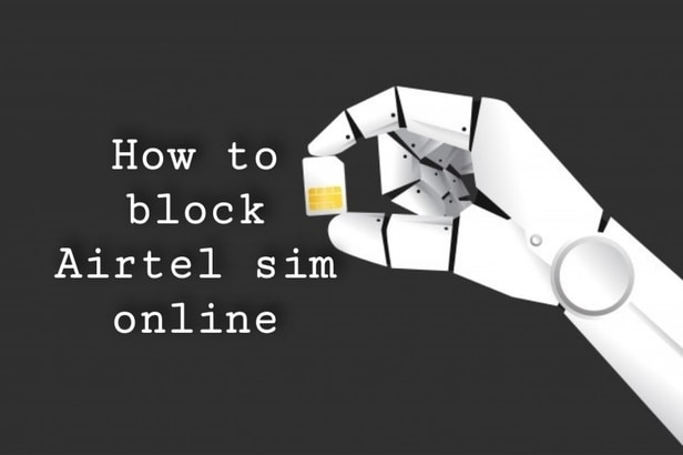 How to block Airtel sim online