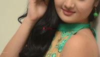 Akshitha cute beauty in Green Salwar at Satya Gang Movie Audio Success meet ~  Exclusive Galleries 042.jpg