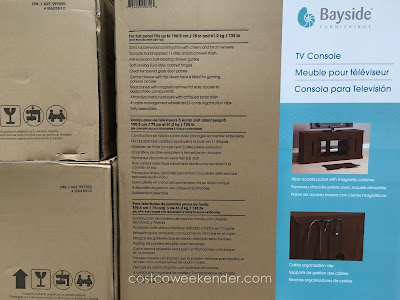 Costco 947730 - Bayside Furnishings Brockport 65 inch TV Console - great for any entertainment system