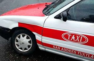 Taxista degollado en San Andrés Tuxtla
