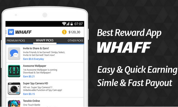 Cara Mendapatkan Dolar/Pulsa Gratis Dari WHAFF Reward