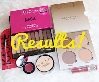 Summer Makeup Giveaway 2018 Results!