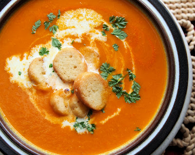 Carrot, Cumin and Tomato Soup