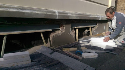 Stahlträger ausgetauscht Sockelsanierung Altbau Eisenträger Stuck Belz