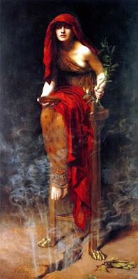 Pythia Orakel von Delphi John Collier