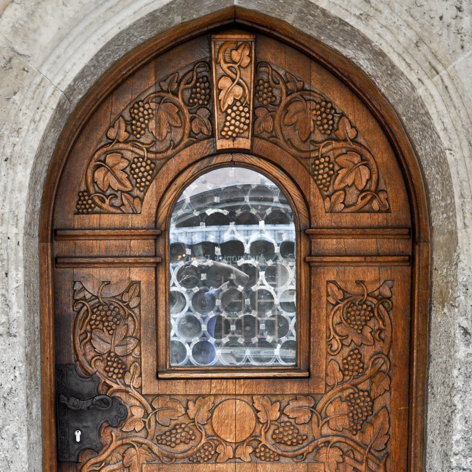 Front door, Garmisch-Parternkirchen, Bavaria, Germany