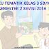 Buku Guru dan Buku Siswa Tematik Kelas 3 SD/MI Semester 2 Revisi Tahun 2018