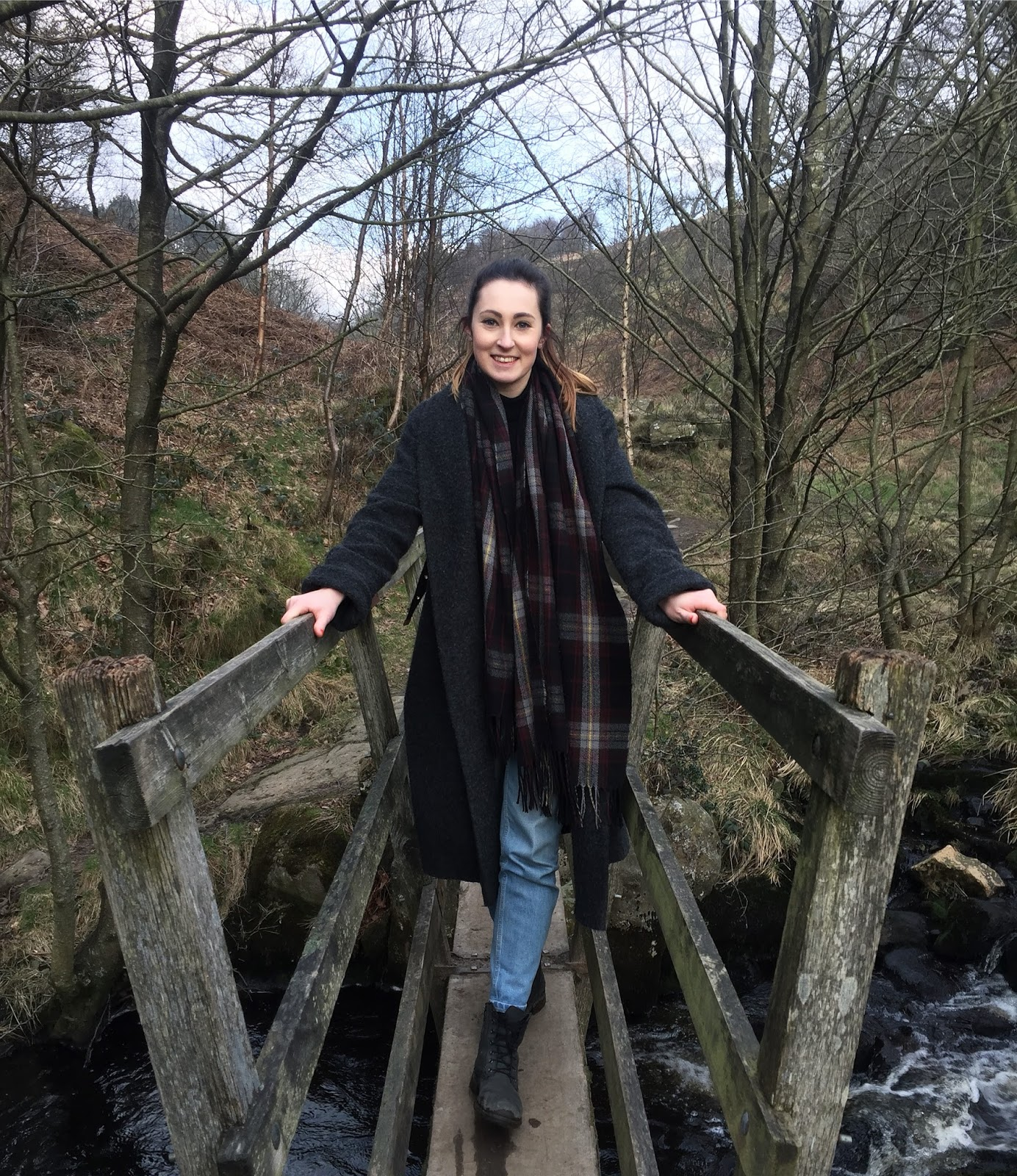 Walking over a bridge on a Yorkshire walk route