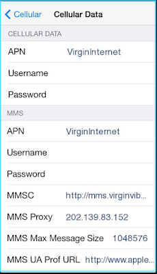 New Virgin Mobile apn settings iPhone