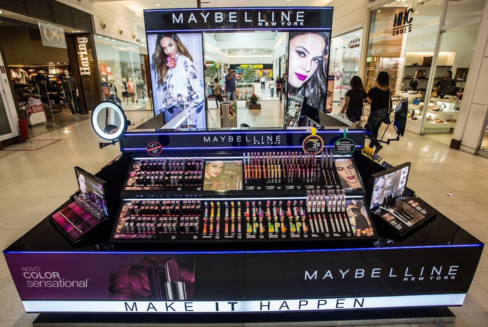 9eb23f36cbe MAYBELINE NEW YORK INAUGURA QUIOSQUE NO SHOPPING ESTAÇÃO