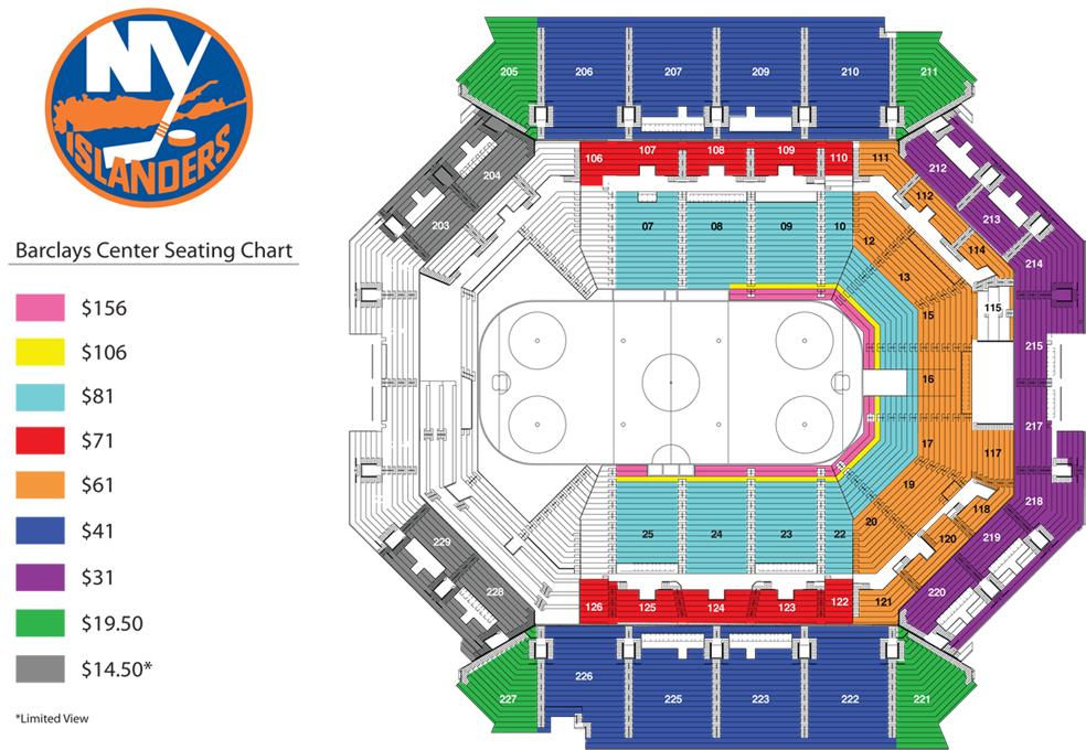 Barclays center website has  different seating chart than ticketmaster also new york islanders adrift rh newyorkislandersadriftspot