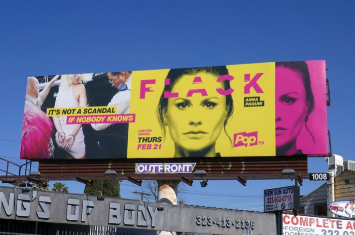 Flack series premiere billboard