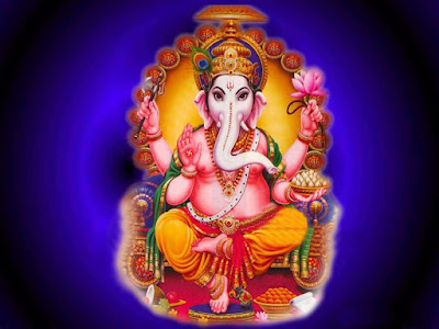Lord-Ganesha-WallpapersBeautiful-blue-background
