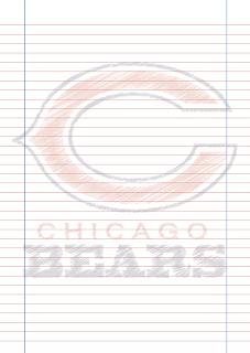 Papel Pautado Chicago Bears rabiscado PDF para imprimir na folha A4