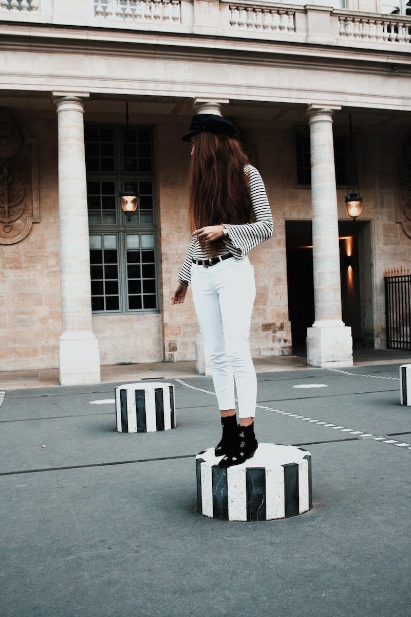 street style paris 2017 colonne buren blog mode instagram gavroche