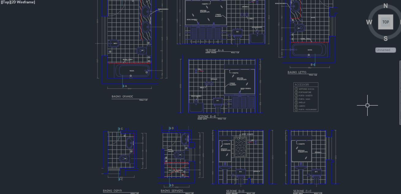 Mimari Banyo Planı DWG