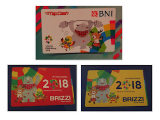 Kartu BNI Tapcash dan Brizzi BRI Edisi Asian Games 2018