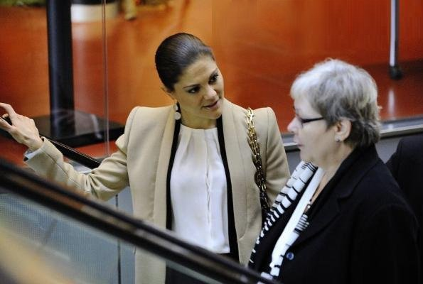 "Queen Silvia and Crown Princess Victoria attended the ""Children and Young People - The Archbishop's Meeting 2012"" in Uppsala"