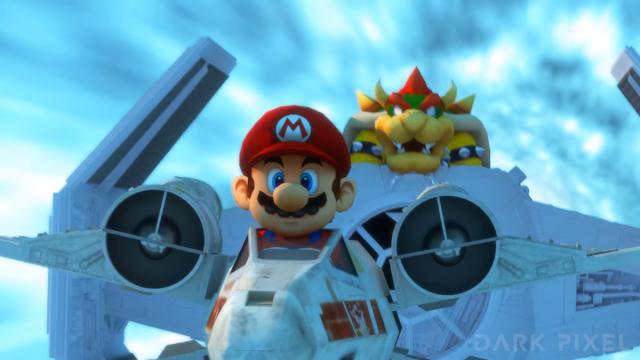 Mario Kart + Star Wars produzido pela Dark Pixel