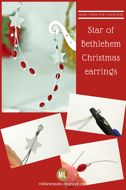 Star of Bethlehem Christmas Earrings inspiration sheet.