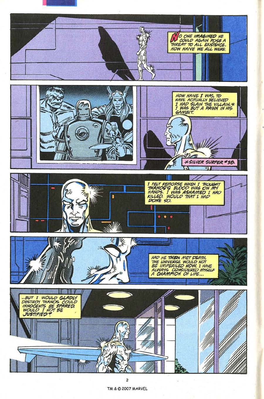 Read online Silver Surfer (1987) comic -  Issue #54 - 4