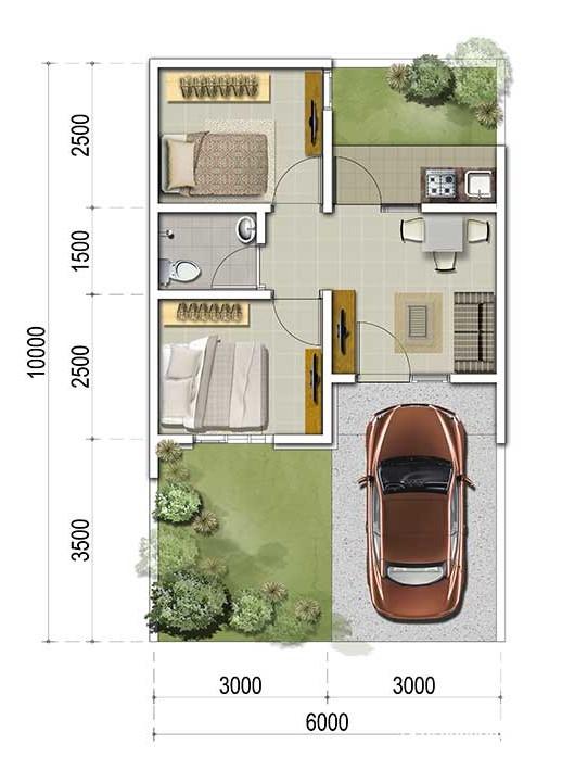8100 Gambar Desain Rumah Luas Tanah 6X10 2 Lantai Gratis Terbaik Unduh