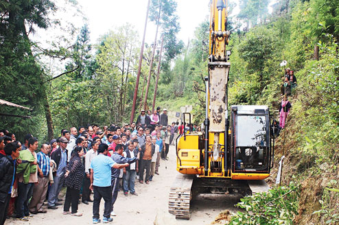 Road to Srikhola Primary School highest poll station