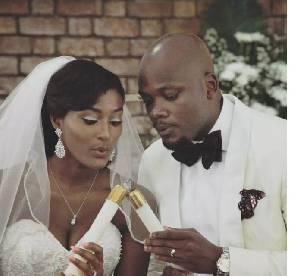 Photos of Miss Malaika winner and son of Kofi Bucknor's white wedding