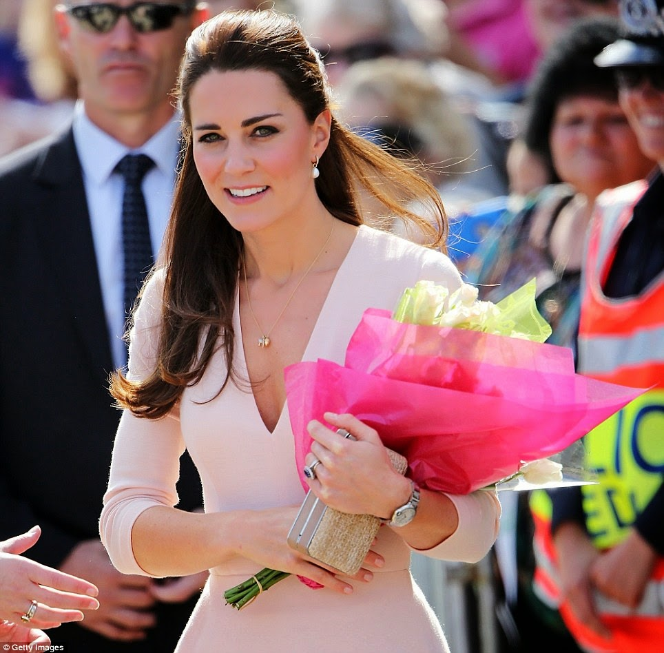 Kate Middleton in pale pink Alexander McQueen for visit to Adelaide ...