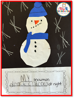 Snowmen at night, Time 4 Kindergarten, Kindergarten Writing