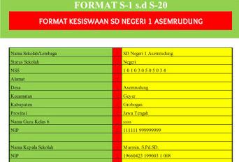 Download Gratis Aplikasi Administrasi Siswa Untuk Data Kesiswaan Berbasis Excel