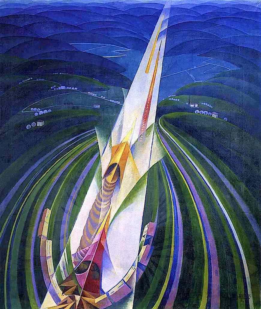 a 1926 futurism painting by Gerardo Dottori
