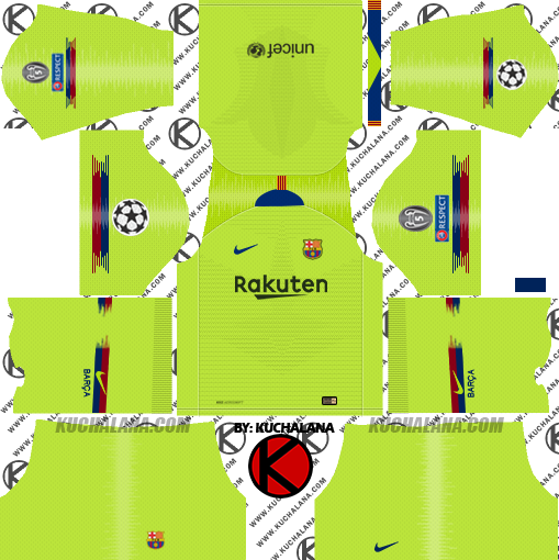 F C  Barcelona 2018/19 Nike Kit - Dream League Soccer Kits - Kuchalana