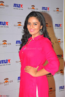 Sree Mukhi in Pink Kurti looks beautiful at Meet and Greet Session at Max Store (45).JPG