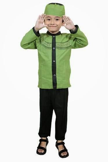 Contoh desain busana muslim anak laki-laki terbaru