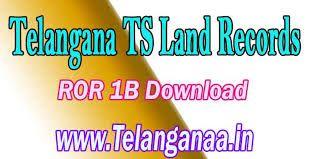 Dharani Land Records Adangal 1B Pahani Maps of Telangana Website Dharani
