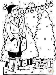 Christmas light coloring page 7