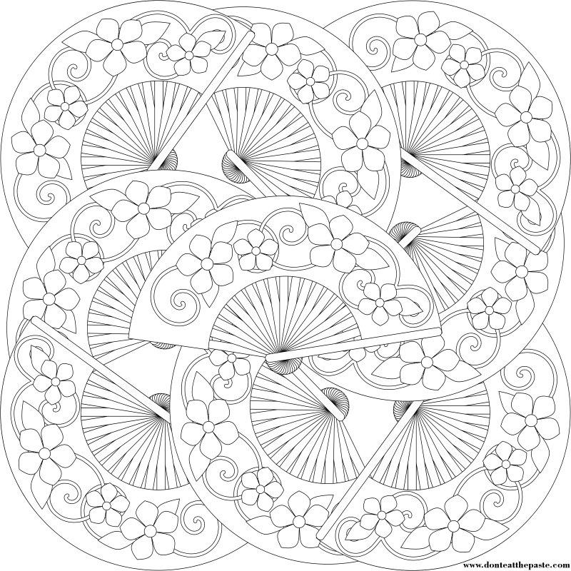 coloring pages fan | Don't Eat the Paste: Fan Coloring Pages
