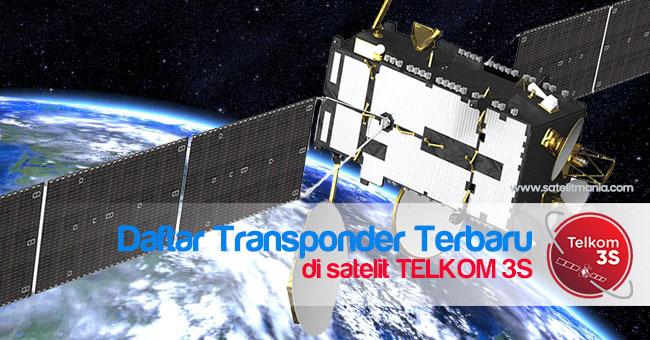 Frekuensi dan Simbol Rate Terbaru Dari Satelit Telkom 3S