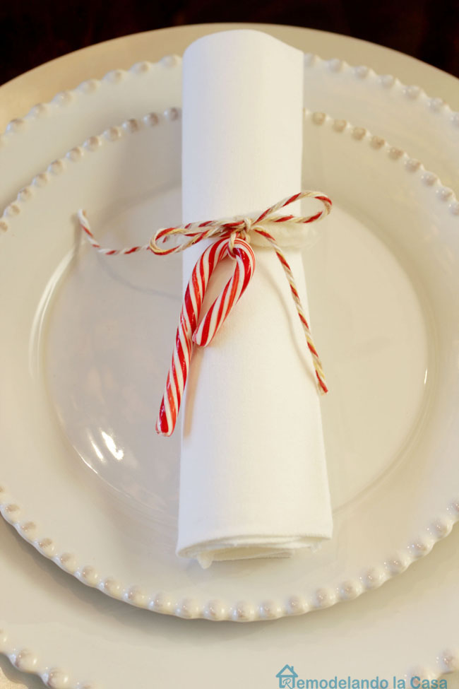 white dishes for Christmas table