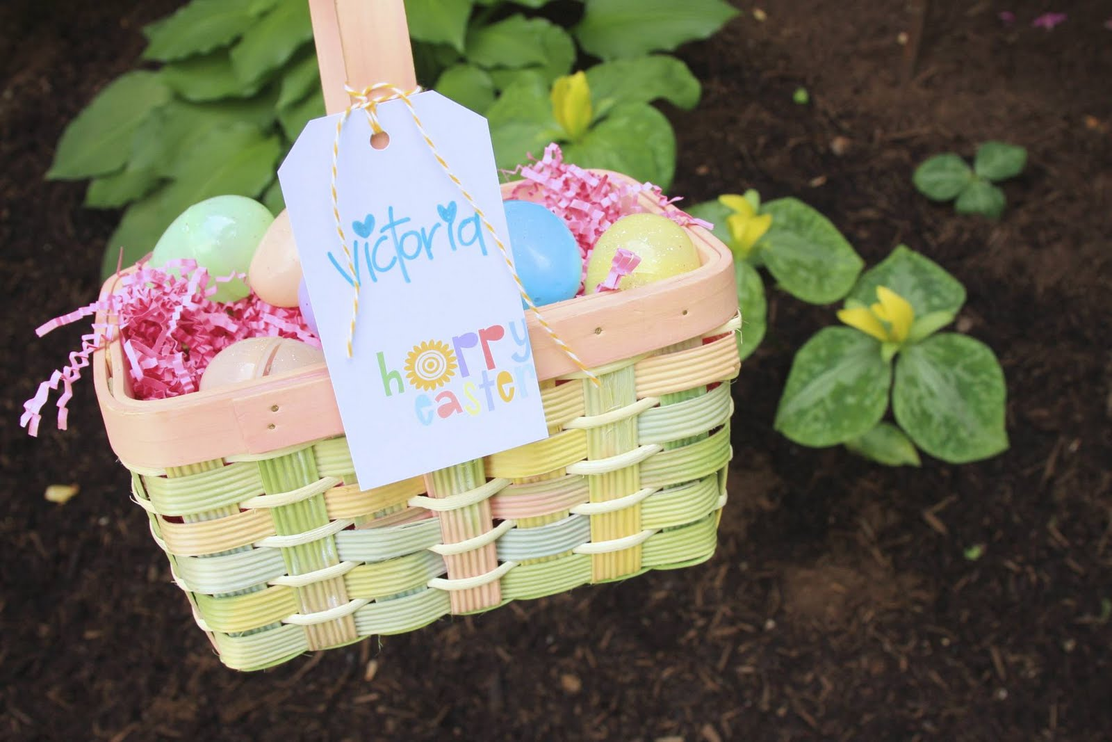 Easter Basket Gift Tag Download | iloveitallwithmonikawright.com