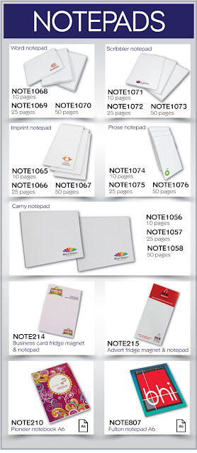 branded notepads from ECS